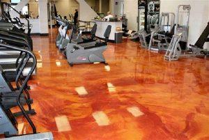 Metallic Epoxy Floor Gym